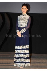Tamanna Bhatia navy blue long Bollywood Anarakali
