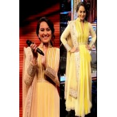 Sonakshi sinha yellow Bollywood Suit