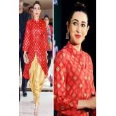 Karishma kapoor red designer suit
