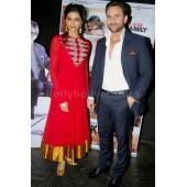 Deepika padukone red Bollywood Suit