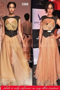 Light brown lakme fashion Bollywood gown