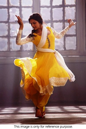 Deepika Padukone Yellow Anarkali