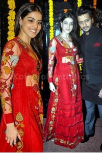 Genelia Dsouza Red traditional Anarkali