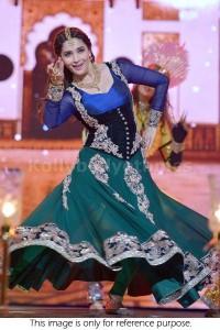 Madhuri Dixit Green and blue anarkali