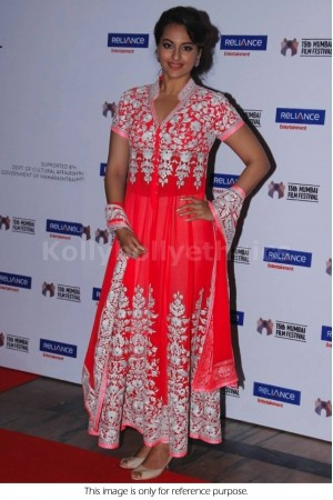 Sonakshi sinha pink designer anarkali