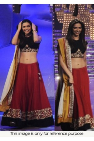 Deepika Padukone Red & Black lehenga at just dance