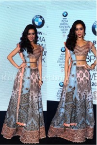 Shraddha kapoor bridal sky blue and pink lehenga choli