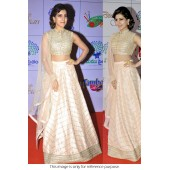 Samantha cream and gold Bollywood Lehenga