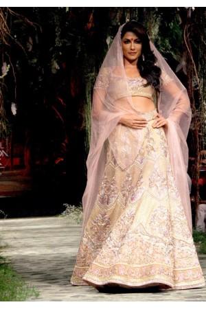 Chitangada Singh Silk lehenga in Ivory colour
