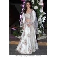Alia Bhatt Net and Joya Silk Lehenga in White colour