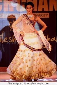 Shilpa Reddy off white designer lehenga