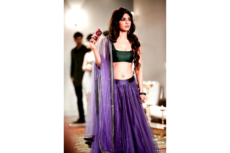 084c60dfcc Bollywood Style Priyanka chopra net lehenga in purple color