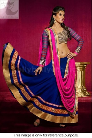 Priyanka chopra pink and blue lehenga