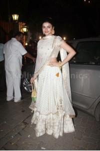 Prachi Desai White designer lehenga