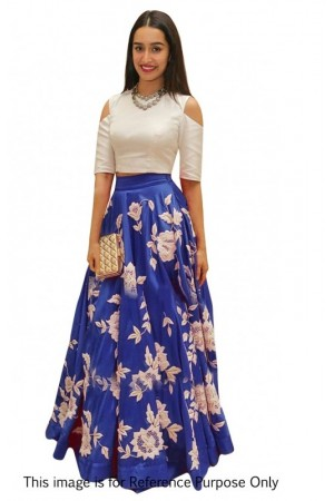 Bollywood Style Shraddha das blue color bangalori silk lehenga choli
