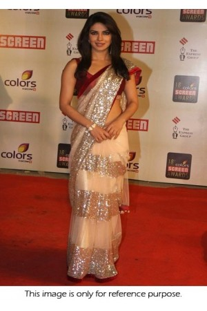 Priyanka Chopra at 18th annual colours screen award Saree
