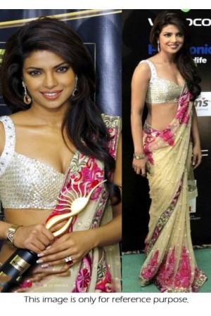Priyanka Chopra Golden saree