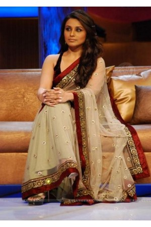 Rani Mukerjee Left Karade Saree