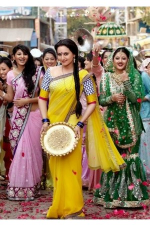 Sonakshi sinha Dabang Yellow Saree