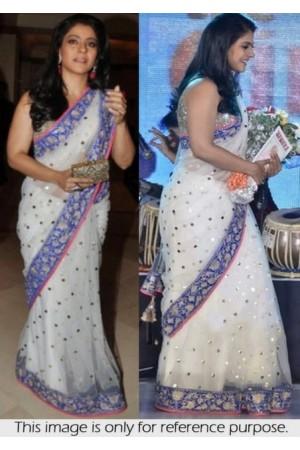 Kajol white Saree