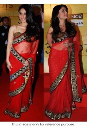 Kareena Kapoor 3 Idiots promo red saree