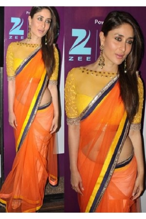 kareena kapoor orange saree