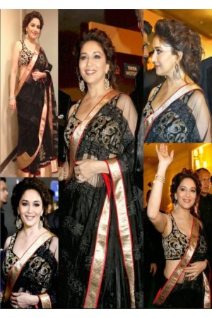 Madhuri Dixit black saree at IIFA awards