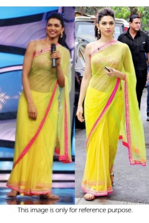 Deepika Padukone chennai express promo saree at DID