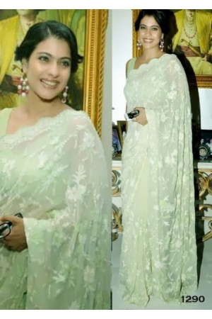 Kajol Green saree