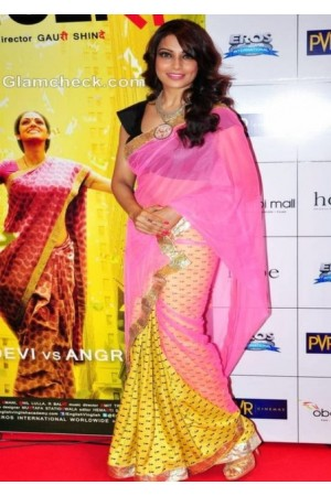 Bipasha Basu English Vinglish Premiere saree