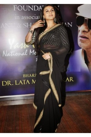 Rani Mukerjee black saree