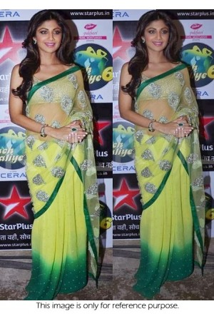 Shilpa shetty green nach baliye saree