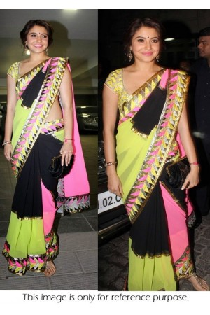 Anushka sharma tri color saree