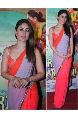 Kareena kapoor pink and grey saree
