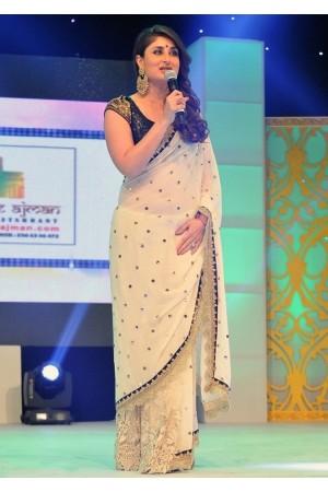 kareena kapoor cream color  saree
