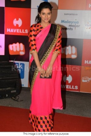 Asin Pink award saree