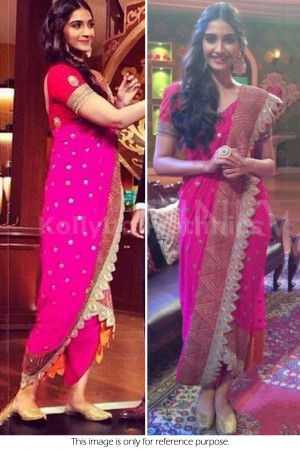 Sonam Kapoor hot pink saree