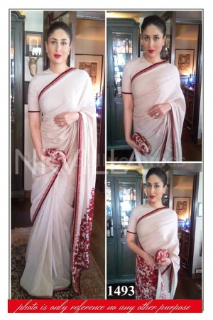 Kareena kapoor pink and red bollywood saree
