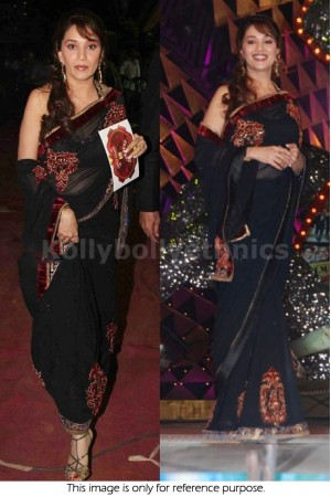 Madhuri dixit Black Saree