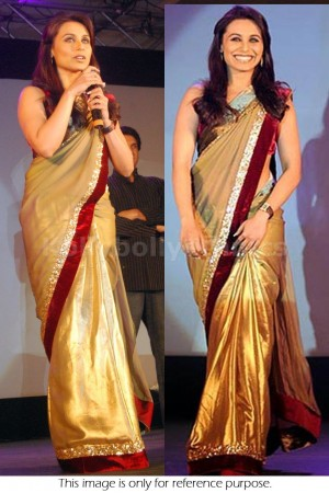 Rani Mukerjee Golden saree