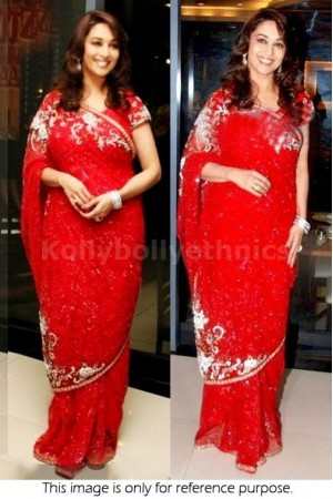 Madhuri Dixit Red saree