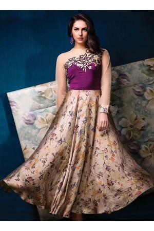 Savory Print Work Designer Gown
