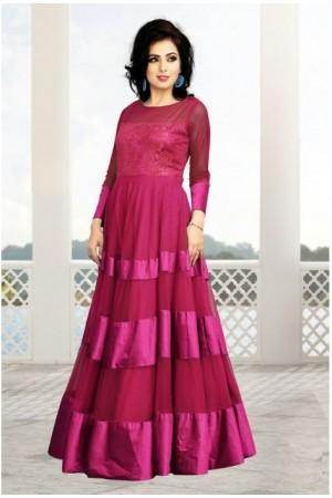 Pink Soft Net / Satin Gown