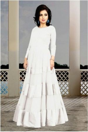 White Soft Net / Satin Gown