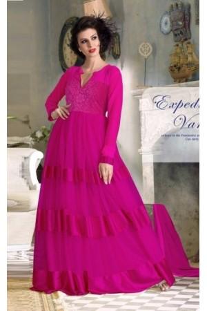 Pink Net / Satin / Brasso Gown