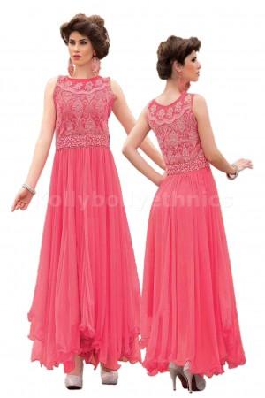 Pink colour Designer Gown