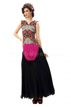 Black and pink Designer Gown