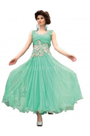 Aqua Green Designer Gown