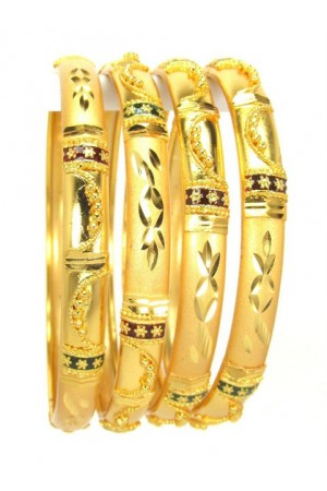 Gold Plated Bangles 78829-2-4