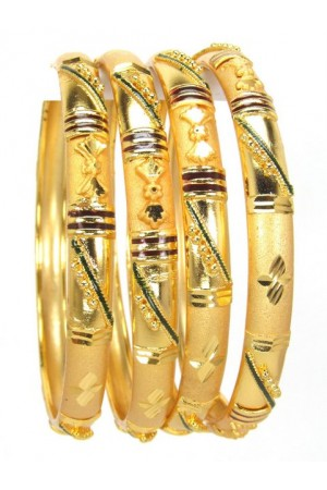 Gold Plated Bangles 78835-2-6